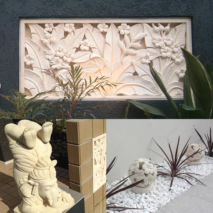 石の彫刻 石材 エクステリア 外構用品