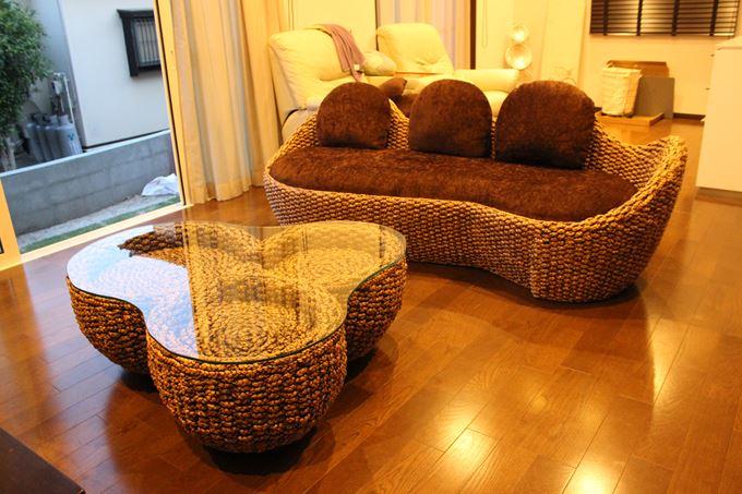 ヒヤシンス家具 3人掛けソファ