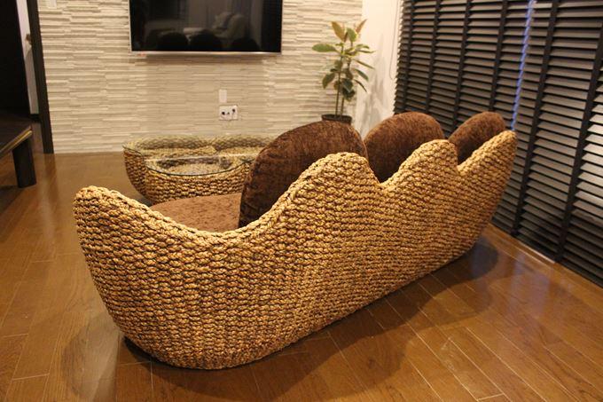 ヒヤシンス家具 3人掛けソファ テーブル