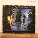 バリ絵画 ライステラス バリ島の風景