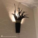 ココナッツリーフの壁掛けランプ